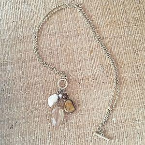 Lia Sophia Convertible gold necklace